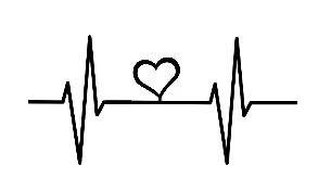 hjärta med ekg